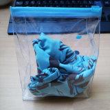 OEM de Milieuvriendelijke Zachte Duidelijke Zak van EVA Swimwear van de Ritssluiting