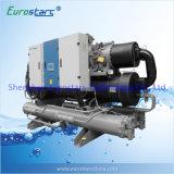 Refrigerador de agua refrigerado por agua del compresor del tornillo de Hanbell del refrigerador