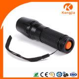 A lanterna elétrica portátil a mais brilhante das forças armadas do diodo emissor de luz da boa qualidade 10W Xml T6 do foco do zoom do poder superior