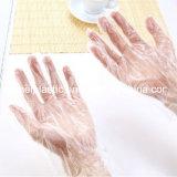 L guanti a gettare del PE della famiglia trasparente di formato