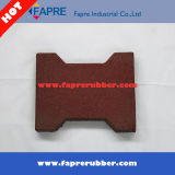 Red Face Dog-Bone H-Type Rubber Brick / Tile