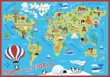 Capretti Children School Play Educational 80X120cm Area Rug