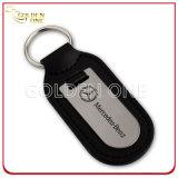 Kundenspezifischer Debossed weicher Decklack-Firmenzeichen-Leder-Schlüssel-Halter