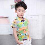 熱い販売の夏の衣類は快適のための子供のTシャツをセットする