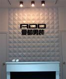 De eenvoudige Decoratieve Comités van de Tegel van de Muur van het Effect van pvc van de Decoratie van het Ontwerp 3D