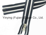 Zipper longo de nylon com a fita reflexiva para o vestuário