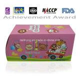 Leite Flavor Animal Shaped Cracker em Car Shaped Box (Pink Color para Girl)