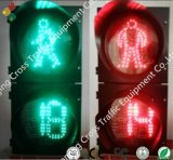luz de sinal do tráfego Pedestrian de 200mm com a contagem regressiva (redonda)