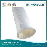 Peúga resistente do filtro da poeira de pano do poliéster do alcalóide forte (D160 x L3000mm)