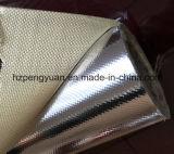 Tissu en fibre de verre avec film métallique en polyester