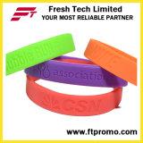 Wristbands gravados relativos à promoção do silicone com seu logotipo