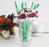 Paja de beber de papel de la hoja de la decoración del Weeding del color de rosa caliente