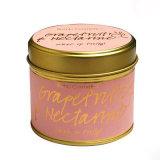 Tarro de cristal de lujo de la vela de la cera de la soja para el regalo de la Navidad