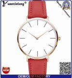 Reloj grande barato del descuento de Women&Men del cuero del regalo de la promoción del reloj del amante de los pares del diseño de la manera Yxl-936