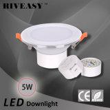 5W 2.5 blanc Integrated de gestionnaire de Ce&RoHS d'éclairage de pouce DEL Downlight