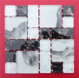 Mosaïque blanche de verre cristal de bande
