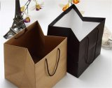 Carry Black Handle Gift Bag Paper Bag Recycle Shopping Bag