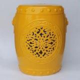 Taburete antiguo chino del jardín de la porcelana
