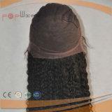 Volles Handtied Menschenhaar-Form-Frauen-elastisches Ineinander greifen-jüdische Silk Spitzenperücke 100%