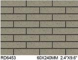 De Gespleten Tegel van de klei voor BuitenBaksteen 60*240mm Rd6453 van de Muur