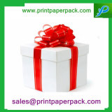 Cadre de papier de cadeau de souvenir de velours de guindineau de carton immaculé de noeud