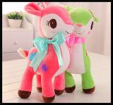 Brinquedo macio do luxuoso do fantoche do animal de estimação da pele do animal enchido do cavalo para crianças