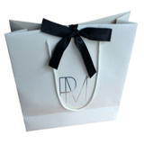 High End of Paper Gift Shopping Bag para vestuário, sapatos, sunglass