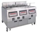 Die Kartoffelchips, die Maschine Preis festsetzen lassen/Huhn-Maschine/kommerzielle tiefe Bratpfanne-/Hühnerbein-Fleisch-Kugeln, öffnen Bratpfanne
