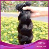 Trama frouxa do cabelo humano de Remy do Virgin da onda do Weave indiano super