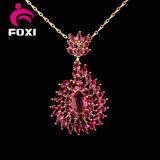 De rode Reeksen van de Juwelen van de Manier van het Ontwerp van de Steen van CZ Goud Geplateerde voor de Partij van Vrouwen