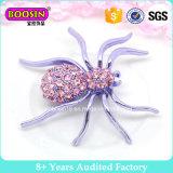 Broche púrpura grande de la araña de la alta calidad de encargo