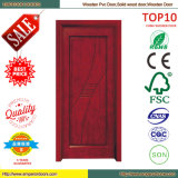 Porte en bois intérieure de PVC de porte de portes en bois bon marché