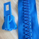 좋은 품질을%s 가진 5# 플라스틱 지퍼, 2개의 색깔 테이프