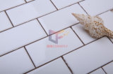 Grossy plana vidriada Cara blanco estupendo del estilo de Europa de cerámica del azulejo de mosaico