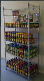 Coated de epoxy Metal Wire Display Shelving para Market y el salón de muestras Application