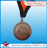 De médailles de marathon de souvenir du Texas demi en métal de médaillon de médaille faite sur commande de grand dos
