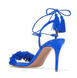Новые ботинки высокой пятки повелительниц способа с Tassels (HS07-24)