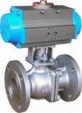 Válvula de esfera portuária do controle da flange V