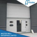 Europeo Garaje Puerta , Moderno puerta de cochera / CE aprobó Eléctrico Garaje Puerta con pequeñas puertas / Seccional Puerta automática del garage