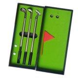 Jeux de cadeaux de golf avec les stylos bille Shaped d'alliage de club de golf 3PCS, mini indicateur, mini bille