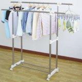 Edelstahl-doppelter Rod-Kleidung-Aufhänger