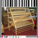 Mensole della gondola del supermercato della struttura di legno solido e del metallo