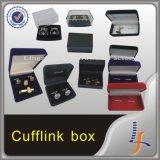Neuer kundenspezifischer Firmenzeichen-Luxuxsamt-preiswerter Manschettenknopf-Kasten