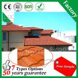 アフリカの熱い販売の安く多彩で平らな石の上塗を施してある金属の屋根瓦