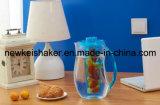 Pichet en brosse en plastique acrylique 2L avec tube à base de glace