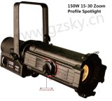 150W LED Zoom Light Light Light Ellipsoidal Light para Iluminação Teatral