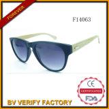 Óculos de sol de bambu do logotipo de F14063 Costom com lente polarizada 2015