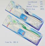 Ventas al por mayor dentales de los kits con la seda dental, la selección y el casquillo, cepillo de dientes dental de la seda de los kits