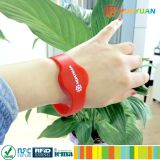 Durable Flexible Contactless silicone RFID Wristband for Event
