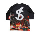 주문을 받아서 만들어진 디자인 (R011)를 가진 최신 판매 힙합 작풍 t-셔츠